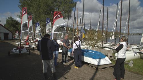Bénévoles régate OpenBic Centre de voile Bordeaux Lac 18 mars 2018