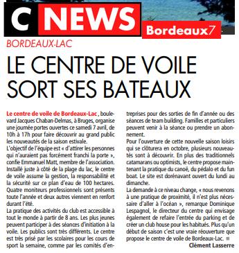 La journée Portes Ouvertes dans Cnews Bordeaux 7