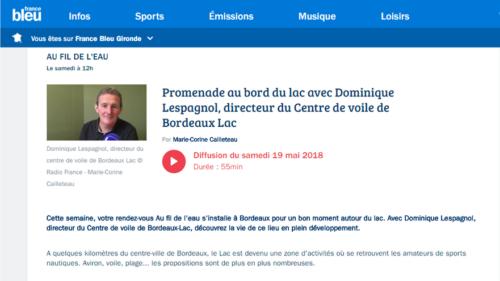 Centre de voile bordeaux lac Dominique Lespagnol France Bleu Gironde